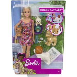 Papusa BARBIE Doggy Daycare MTFXH08, 3 ani+, multicolor