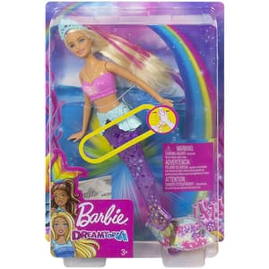 Papusa BARBIE Dreamtopia Sirena Sparkle Lights MTGFL82, 3 ani+, multicolor