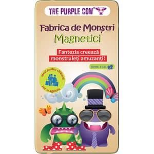 Joc educativ PURPLE COW Fabrica de Monstri magnetici CW0205, 3 ani+, multicolor