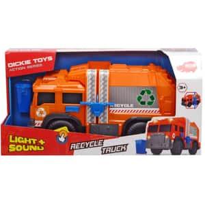Masina de gunoi DICKIE Action Series 203306001, 3 ani+, portocaliu-negru