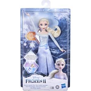 Papusa FROZEN Elsa distractie in apa F0594, 3 ani+, alb-albastru