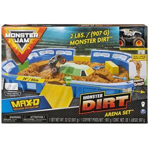 Masinuta cu nisip kinectic MONSTER Jam Dirt Arena 6046704, 3 ani+, multicolor