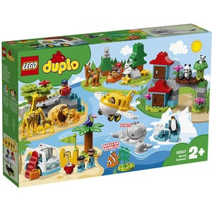 LEGO Duplo: Town - Animalele lumii 10907, 2 ani+, 121 piese