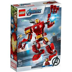 LEGO Super Heroes: Robot Iron Man 76140, 6 ani+, 148 piese