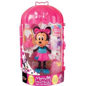 Figurina DISNEY Minnie Mouse cu accesorii in calatorie 182905, 3 ani+, multicolor