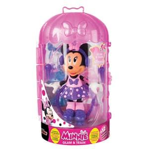 Figurina DISNEY Minnie Mouse Glam&Train cu accesorii 182929, 3 ani+, multicolor