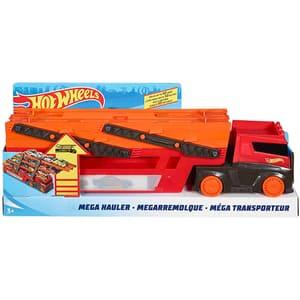 Camion HOT WHEELS Mega Hauler MTGHR48, 3 ani+, rosu-portocaliu