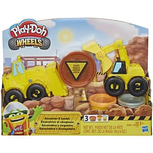 Set PLAY DOH Wheels - Excavator E4294, 3 ani+, galben-negru