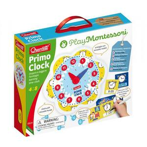 Joc educativ QUERCETTI Primul ceas Montessori Q0624, 4 - 8 ani, 25 piese