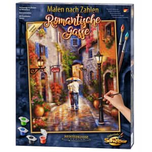 Set pictura pe numere SCHIPPER Romantic Alleyway 609130788, 12 ani+, 40x50 cm
