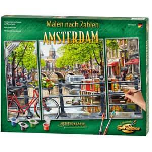Set pictura pe numere SCHIPPER Triptic - Amsterdam 609260812, 12 ani+, 50x80 cm