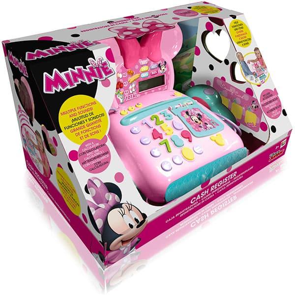 Jucarie de rol DISNEY Casa de marcat Minnie Mouse 181700, 3 ani+, roz-verde deschis