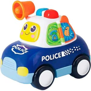 Jucarie interactiva HOLA Masina de politie cu lumini si sunete 6108, 12 luni+, multicolor