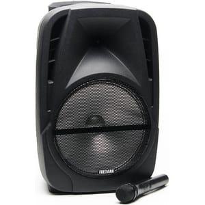 Boxa portabila cu microfon wireless FREEMAN Karaoke 1001, Bluetooth, USB, Radio FM, negru