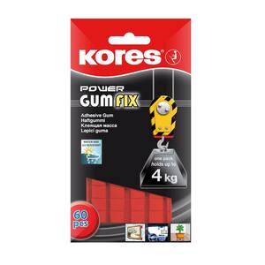 Pastile autoadezive KORES Power Gumfix, 35 g, 60 bucati/set