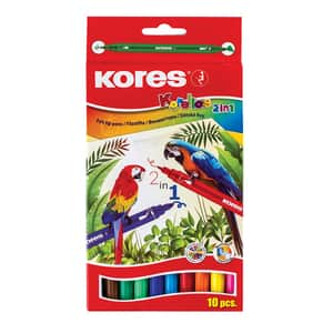 Markere cu 2 capete KORES Korellos, 10 culori