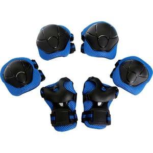 Kit de protectie MYRIA MY7033, Cotiere, Genunchiere, Protectie pentru palme, albastru