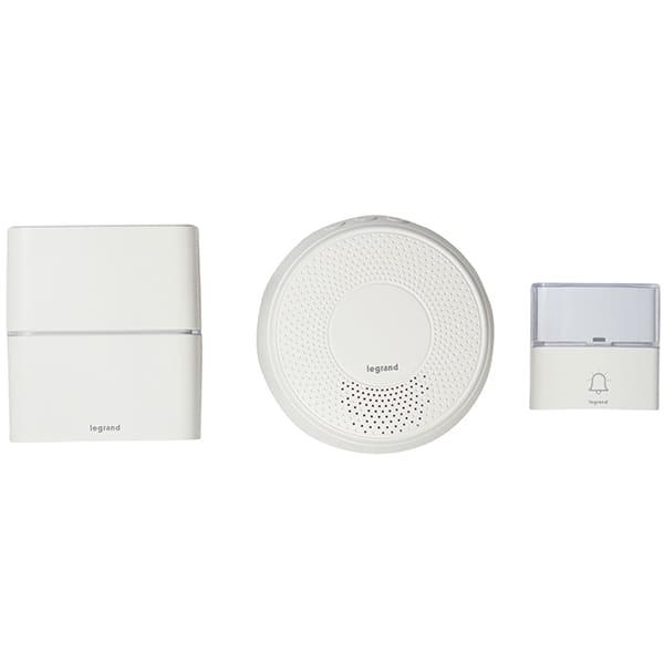 Sonerie dubla wireless LEGRAND Serenity, USB, MP3, 200m, alb