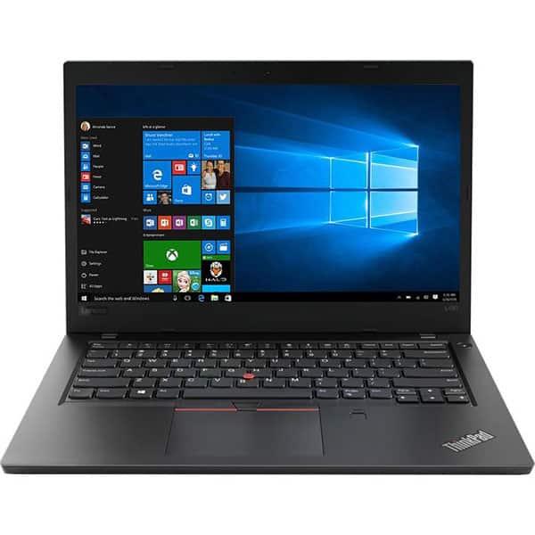 """Laptop LENOVO ThinkPad L480, Intel Core i5-8250U pana la 3.4GHz, 14"""" Full HD, 8GB, SSD 256GB, Intel UHD Graphics 620, Windows 10 Pro, Negru"""