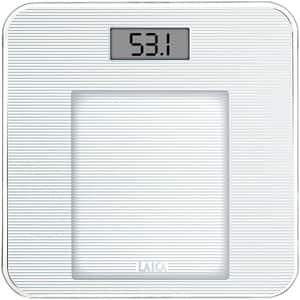 Cantar corporal LAICA PS1036, 150kg, electronic, sticla, 150kg, alb