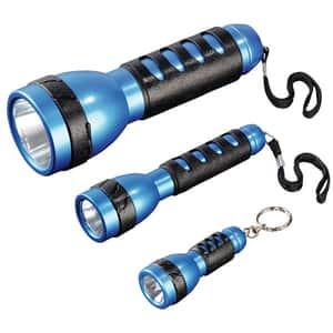 Set lanterne LED HAMA FL-130, 45 lumeni, 3 bucati, negru-albastru