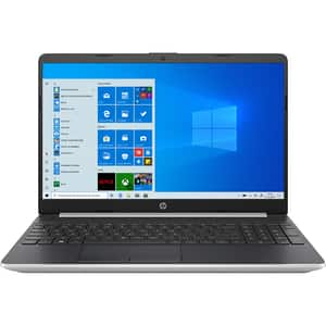 "Laptop HP 15s-fq1038nq, Intel Core i7-1065G7 pana la 3.9GHz, 15.6"" Full HD, 16GB, SSD 512GB, Intel Iris Plus Graphics, Windows 10 Home S, argintiu"