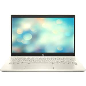 "Laptop HP Pavilion 14-ce3023nq, Intel Core i3-1005G1 pana la 3.4GHz, 14"" Full HD, 8GB, SSD 256GB, Intel UHD Graphics, Free Dos, auriu"