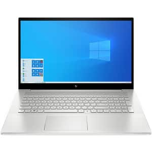 "Laptop HP Envy 17-cg0005nq, Intel Core i7-1067G1 pana la 3.9GHz, 17.3"" Full HD, 16GB, SSD 512GB, NVIDIA GeForce MX330 4GB, Windows 10 Home, argintiu"