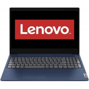 "Laptop LENOVO IdeaPad 3 15ADA05, AMD Ryzen 5-3500U pana la 3.7GHz, 15.6"" Full HD, 8GB, SSD 256GB, AMD Radeon Vega 8 Graphics, Free DOS, albastru"