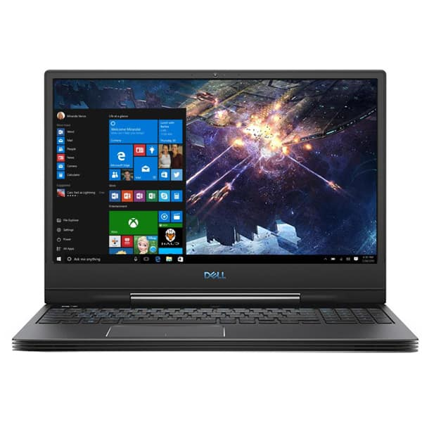 "Laptop Gaming DELL Inspiron 7590, Intel Core i7-9750H pana la 4.5GHz, 15.6"" Full HD, 8GB, SSD 512GB, NVIDIA GeForce GTX 1650 4GB, Windows 10 Home, negru"