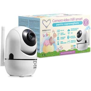 Monitor video digital EASYCARE Wi-Fi Smart EASY00141, alb-negru