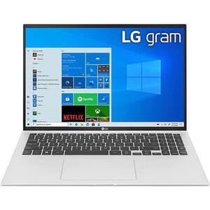 "Laptop LG Gram 16Z90P, Intel Core i5-1135G7 pana la 4.2GHz, 16"" WQXGA, 16GB, SSD 512GB, Intel Iris Xe Graphics, Windows 10 Home, argintiu"