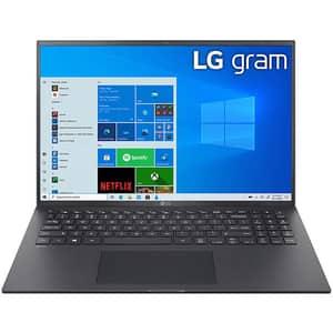 "Laptop LG Gram 16Z90P, Intel Core i7-1165G7 pana la 4.7GHz, 16"" WQXGA, 16GB, SSD 1TB, Intel Iris Xe Graphics, Windows 10 Home, negru"
