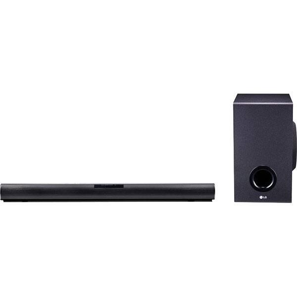 Soundbar LG SJ2, 2.1, 160W, Bluetooth, Subwoofer Wireless, negru
