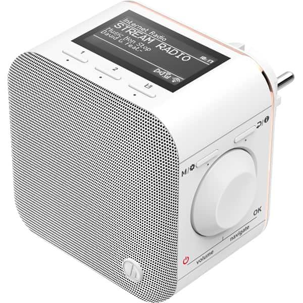 Radio cu internet HAMA IR40MBT Plug-In, Wi-Fi, alb
