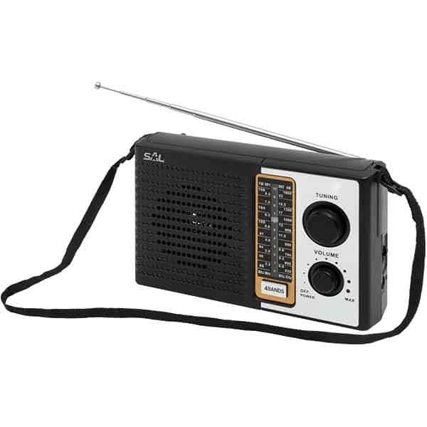Radio portabil SAL RPR 4B, FM, negru