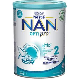 Lapte praf NESTLE NAN Optipro 2 HM-O 12426033, 6 luni+, 400g