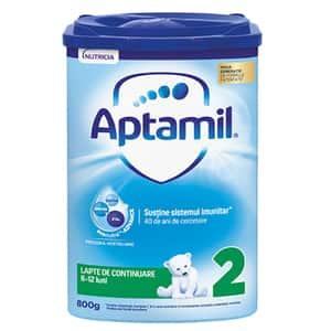 Lapte praf APTAMIL 2 Pronutra  Advance 576848, 6-12 luni, 800g