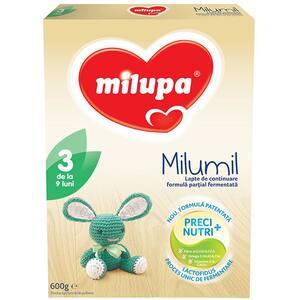 Lapte praf MILUPA MILUMIL 3 PreciNutri 615700, 9-12 luni, 600g