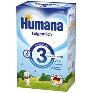 Lapte praf HUMANA 3 GOS 78215, 10 luni+, 600g