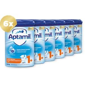Pachet 6 x lapte praf APTAMIL Junior 1+ Pronutra Advance PACK01, 12 luni+, 800g