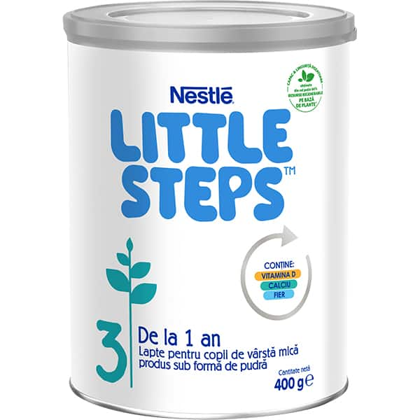 Lapte praf NESTLE Little Steps 3 12398118, 12 luni+, 400g