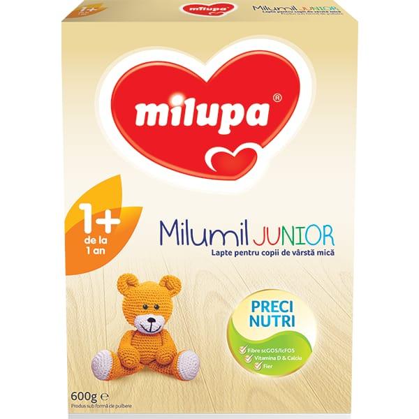 Lapte praf MILUPA MILUMIL Junior 1+ PreciNutri 586838, 12 luni+, 600g