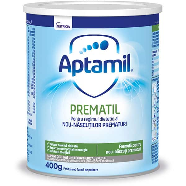 Formula speciala de lapte APTAMIL Prematil 646569, 0 luni+, 400g