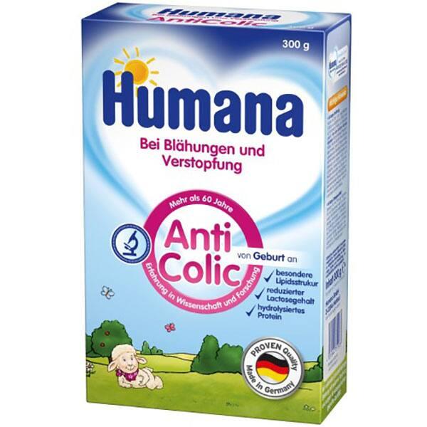 Formula speciala de lapte HUMANA AntiColic 751423, 0 luni+, 300g