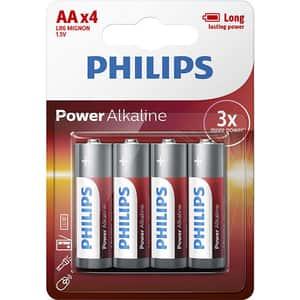 Baterie alcalina PHILIPS LR6, AA, 4 bucati