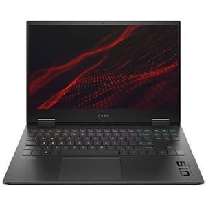 "Laptop Gaming HP Omen 15-en0007nq, AMD Ryzen 7-4800H pana la 4.3GHz, 15.6"" Full HD, 16GB, SSD 512GB, NVIDIA GeForce GTX 1650 Ti 4GB, Free DOS, argintiu"