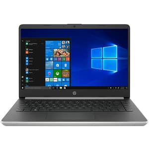 "Laptop HP 14s-dq1008nq, Intel Core i3-1005G1 pana la 3.4GHz, 14"" Full HD, 8GB, SSD 256GB, Intel UHD Graphics, Windows 10 Home S, argintiu inchis"