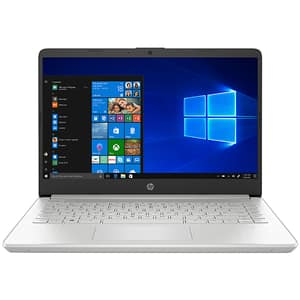 "Laptop HP 14s-dq1011nq, Intel Core i5-1035G1 pana la 3.6GHz, 14"" Full HD, 8GB, SSD 256GB, Intel UHD Graphics, Windows 10 Home S, argintiu"