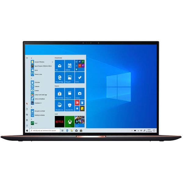 "Laptop ASUS ZenBook S UX393EA-HK001R, Intel Core i7-1165G7 pana la 4.7GHz, 13.9"" Touch, 16GB, SSD 1TB, Intel Iris Xe Graphics, Windows 10 Pro, negru"